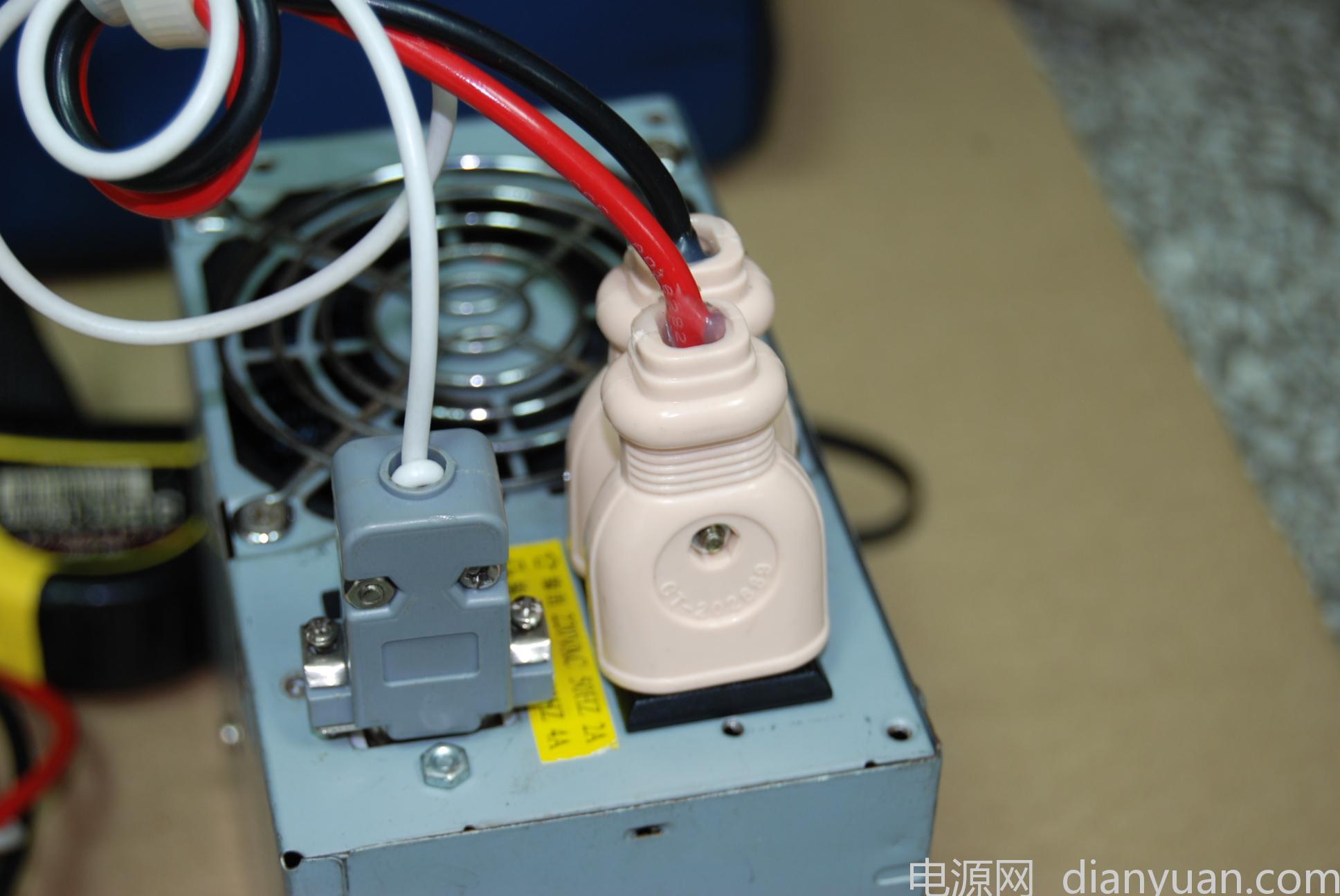 电鱼主机连接图 f 网和针特写