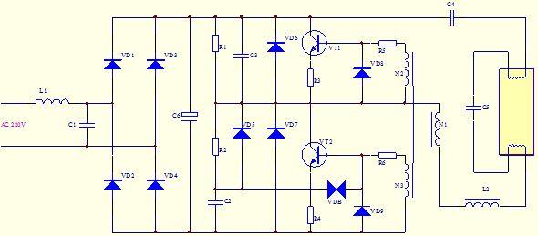 节能灯原理图分析