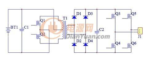 > 锐骏系列大功率mos管在逆变器中的优越性能    主电路框图 &
