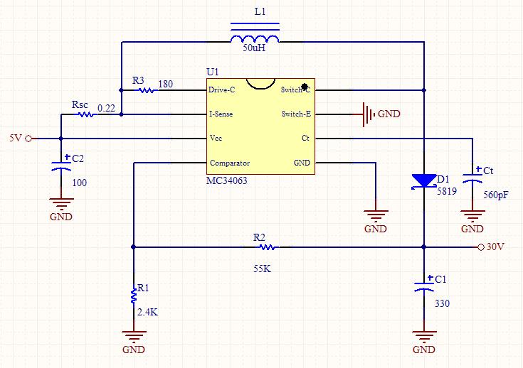 5v转12v升压电路图 5v转12v升压电路 5v转12v升压芯片