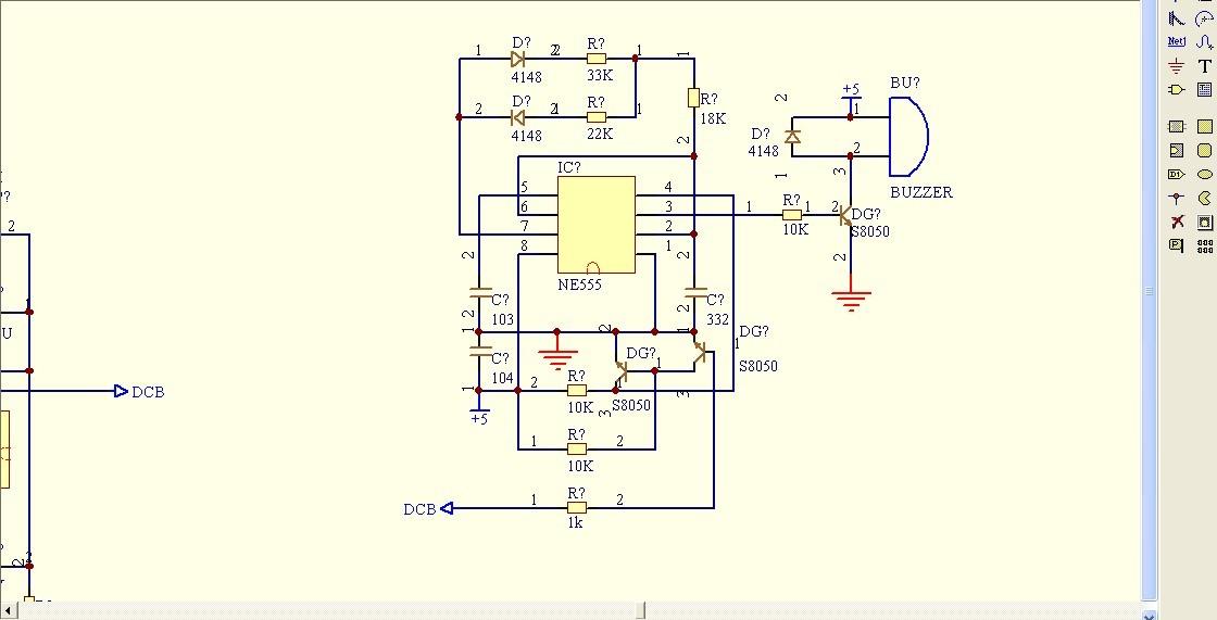 ne555的无源蜂鸣器振荡电路