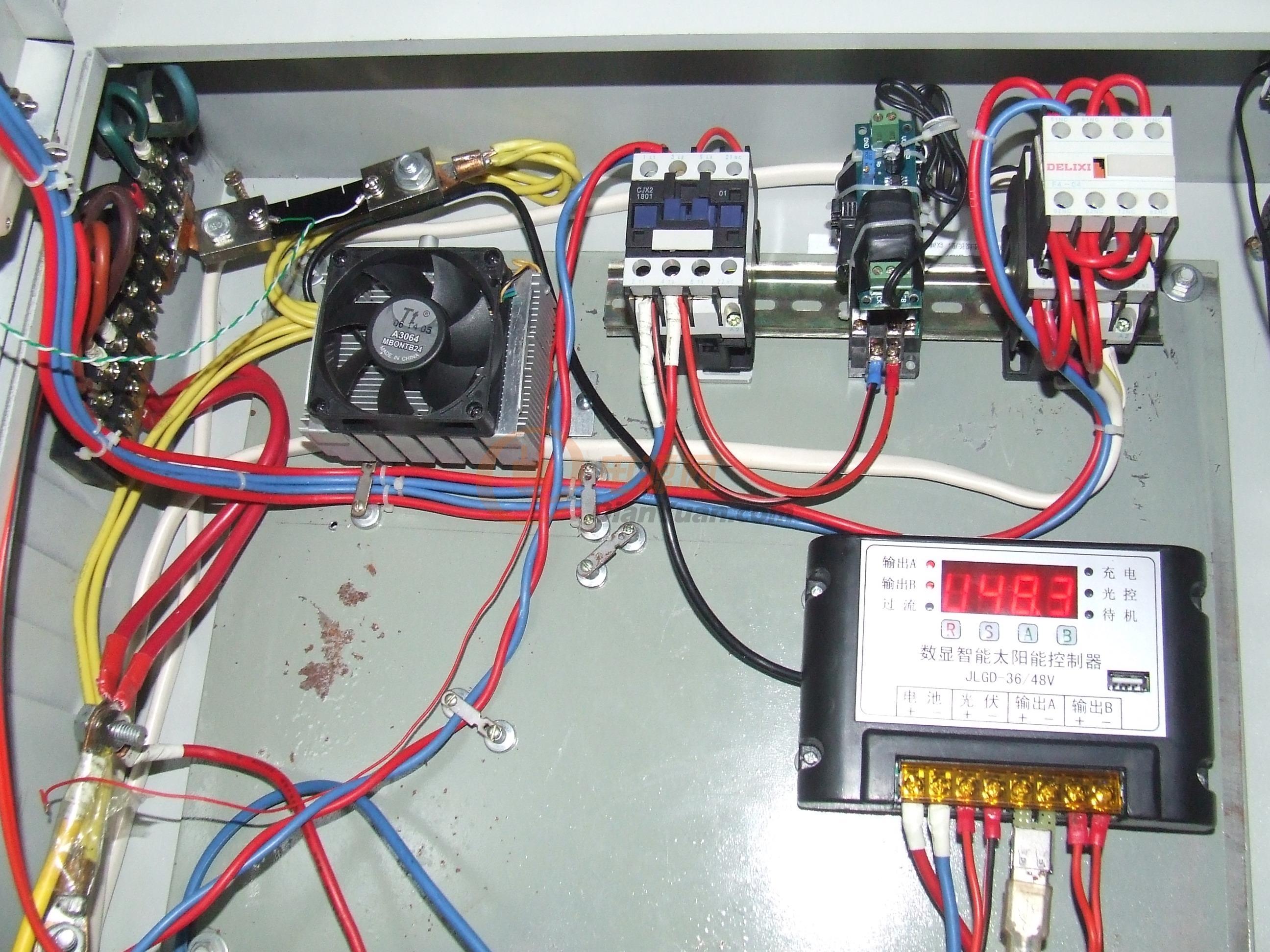 光伏三相交流接触器接线图