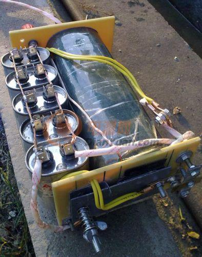 白金机械电鱼机 加电容在电鱼机在后级输出并联一个电容 能不能电到鱼