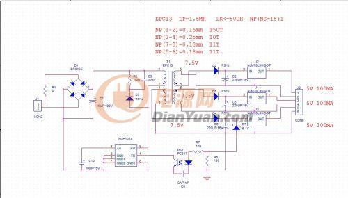 低频变压器电路图