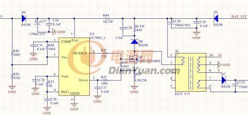 正负12v电源电路图 led灯电源电路图 长城电源电路图